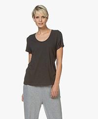 American Vintage Jacksonville Ronde Hals T-shirt - Carbon