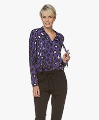 Josephine & Co Cerdic Blouse with Leopard Print - Purple