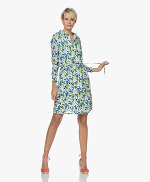 Denham Adventure Camo Print Shirt Dress - Indigo