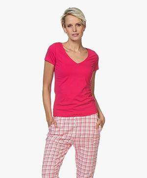 Josephine & Co Charl Katoenen T-shirt - Fuchsia