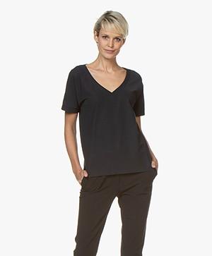 Josephine & Co Reiza Travel Jersey V-Hals T-Shirt - Navy