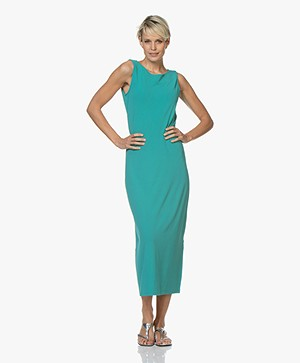 no man's land Crepe Jersey Maxi Dress - Persian Green