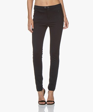 Repeat Ponte Jersey Broek in Viscosemix - Donkerblauw