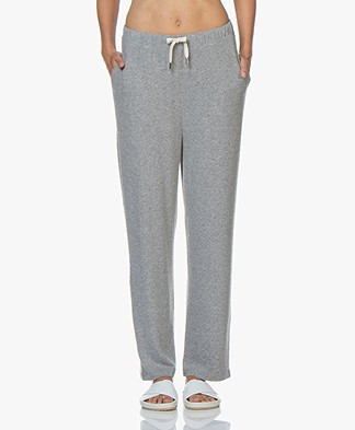 American Vintage Vetington Loose-fit Sweatpants - Grey Melange
