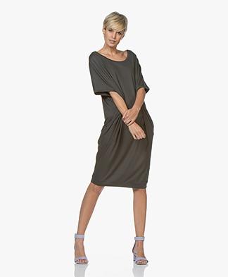 BRAEZ Oversized Jersey Dress - Army