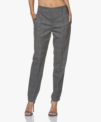 Drykorn Dressed Checked Pants - Dark Grey
