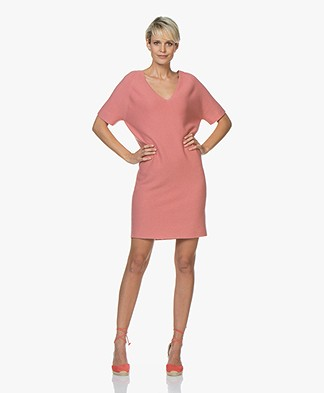 Drykorn Salita Cotton-Cashmere Knitted Dress - Pink