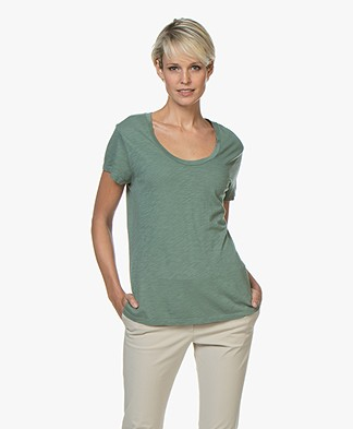 American Vintage Jacksonville Round Neck T-shirt - Mojito