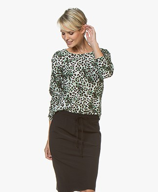 Josephine & Co Ramiro Long Sleeve with Leopard Print - Army