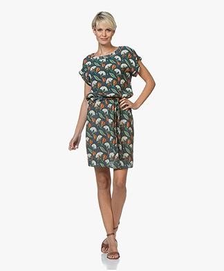 Marie Sixtine Delphy Dress with Print - Leon Dark