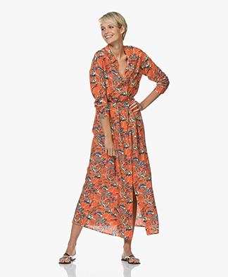 Marie Sixtine Megane Maxi Shirt Dress - Sea