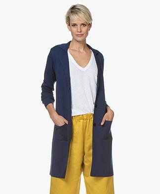 Belluna Cover Half-long Blazer Cardigan - Jeans Blue
