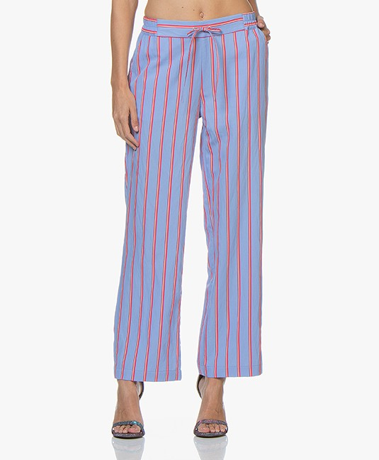 Striped amp; Trouser Co Blue Josephine Cerise Pants Ptw0gxw