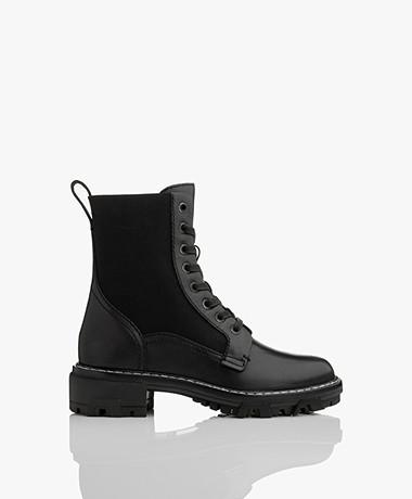 Rag & Bone Shiloh Leather Lace-up Boots - Black