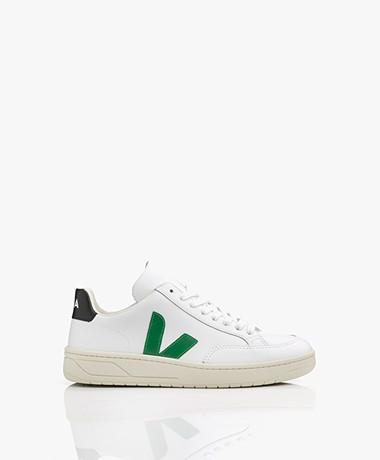 VEJA V-12 Leather Sneakers - Extra White/Green/Black