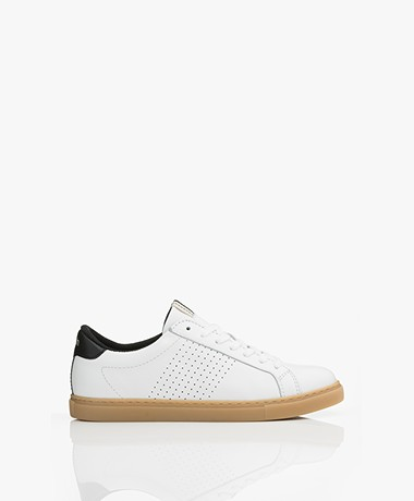 ba&sh Costa Kalfsleren Sneakers - Wit