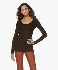 Joseph Cashair Long Sleeve in Pure Cashmere - Black
