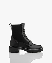 Rag & Bone Shiloh Leather Lace-up Boots - Black
