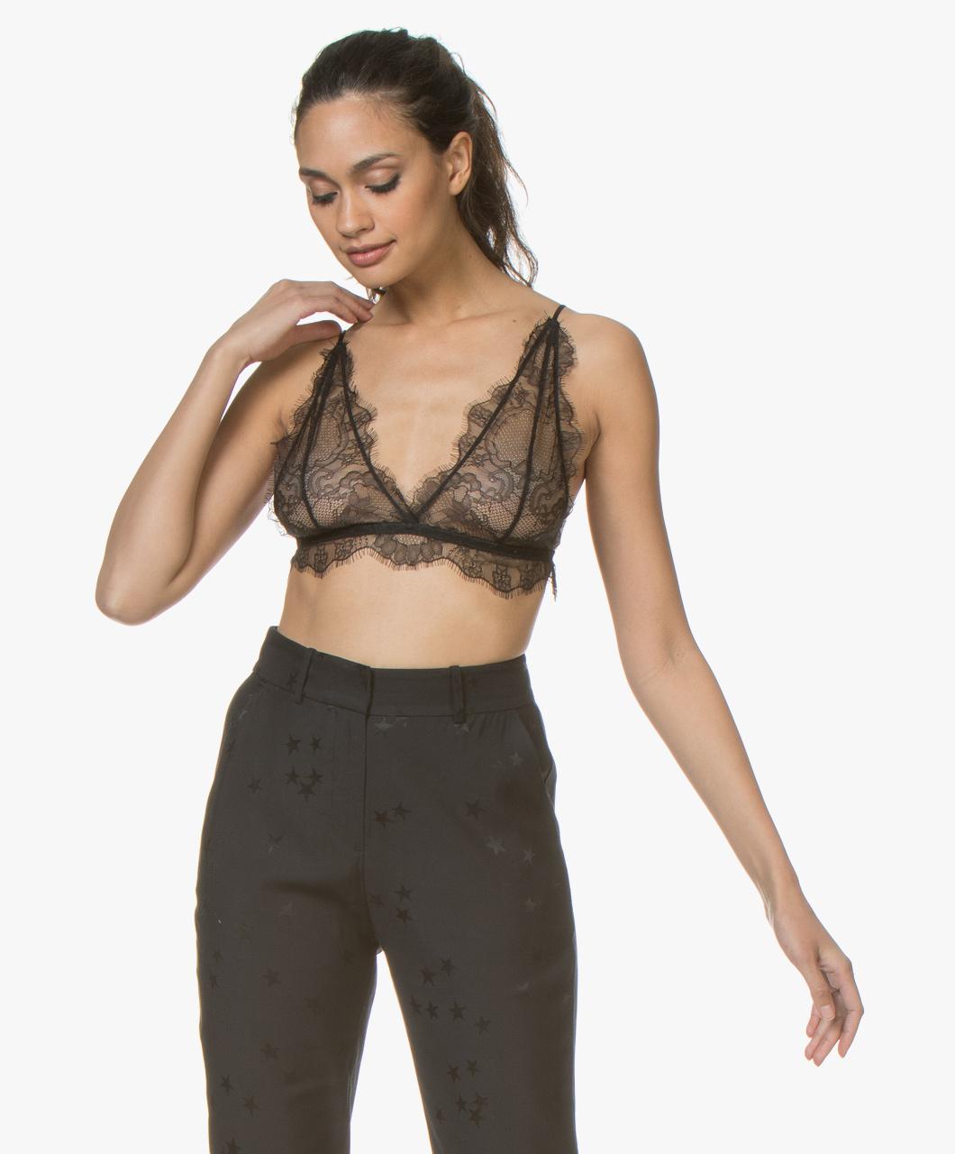 89f9042baa3e3 ANINE BING Delicate Lace Bra - Black - ab50 delicate -007