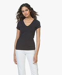 Filippa K Fine Lycra V-neck Top - Navy
