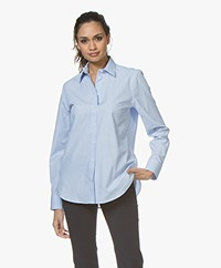 Filippa K Jane Striped Poplin Shirt - Blue/Light Blue