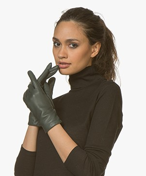 Filippa K Touch Leather Gloves - Emerald