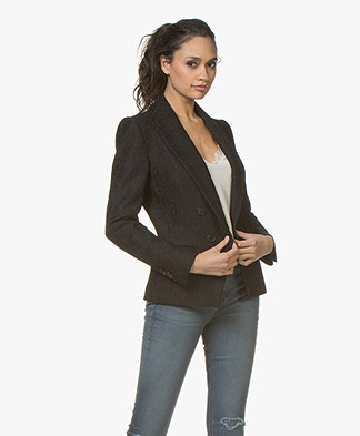 Drykorn Hervey Lace Blazer - Black