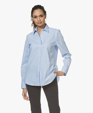 Filippa K Jane Striped Blouse - Blauw/Lichtblauw