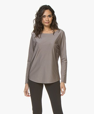 JapanTKY Dony Shiny Travel Jersey Long Sleeve - Taupe