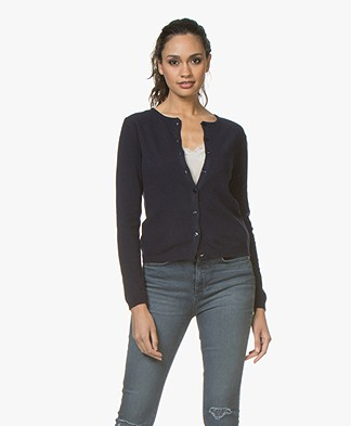 Resort Finest Lucca Cashmere Basic Vest - Navy