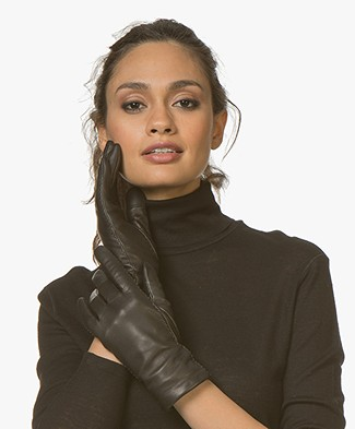 Filippa K Touch Leather Gloves - Black