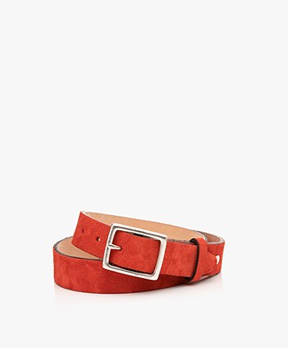 Rag & Bone Boyfriend Suède Riem - Fiery Red