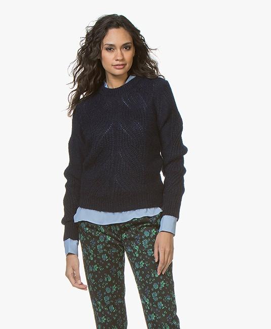 Mohair Navy 2830 R Soft 25730 Neck Sweater Filippa K U16AxqwAE