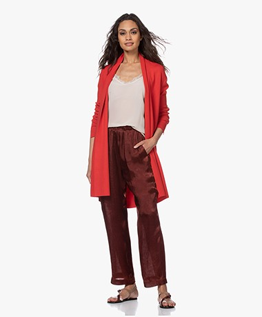LaSalle Long Open Cardigan from Soy Beans - Red
