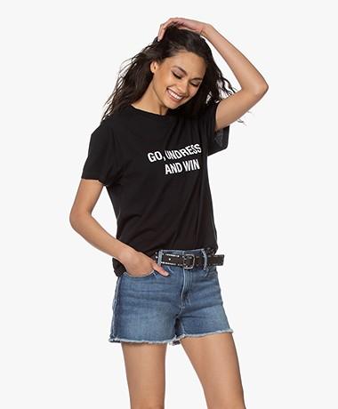 IRO Glorya Print T-Shirt - Zwart