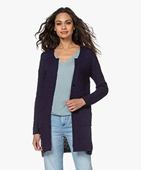 Belluna Paradiso Mid-length Cotton Cardigan - Navy