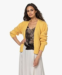 by-bar Bobbi Short Alpaca Blend Cardigan - Citron