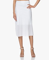 JapanTKY Nyoko Perforated Travel Jersey Skirt - White