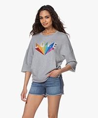 Zadig & Voltaire Kaly Love Rainbow Sweatshirt - Grijs Mêlee