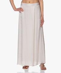 no man's land Satin Maxi Skirt - Linen
