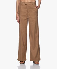 Closed Lyn Linen Blend Wide Leg Pants - Golden Oak