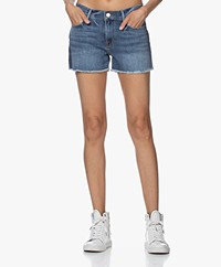 Frame Le Cutoff Released Hem Tux Denim Shorts - Cleo Tux