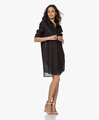 Resort Finest Monica Linen Shirt Dress - Black