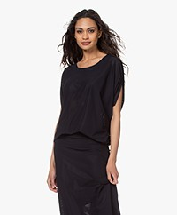 JapanTKY Taly Perforated Oversized T-shirt - Black