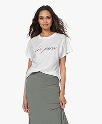 IRO Lyka Slub Jersey Logo T-Shirt - White