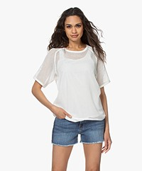 Rag & Bone Double Layer Mesh Tee - White
