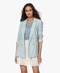 forte_forte Sand Washed Modal Blend Blazer - Bleach