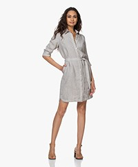 Belluna Panama Pure Linen Shirt Dress - Beme