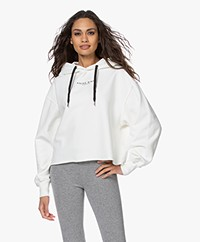 Anine Bing Jamie Boxy Hooded Sweater - Off-white