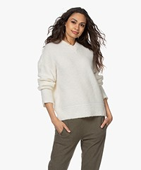 Filippa K Laurel Alpaca Blend V-neck Sweater - Off-white